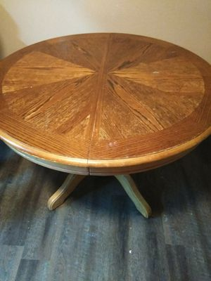 Kitchen table round w/leaf and 7 captain chairs for Sale in Paducah, KY