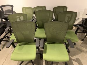 X8 Office Chairs. Adjustable Heights and Armrest. Comfy and rolls on wheels for Sale in Los Angeles, CA