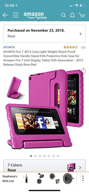 "Kindle Fire 7"" kids case, 12015 edition only, pink for Sale in Raleigh, NC"