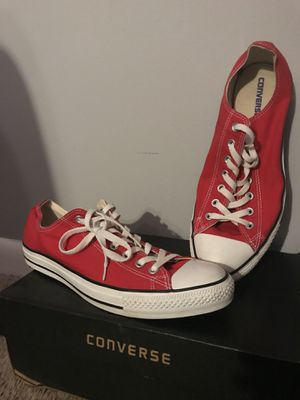 Converse Lows Red, Size 12, Mens Shoes for Sale in Reston, VA