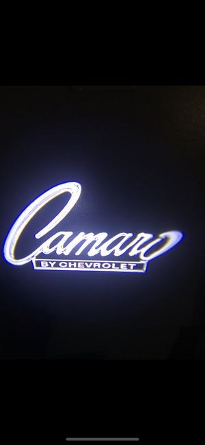 Camaro car door projector lights turns on and off automatically for Sale in Long Beach, CA