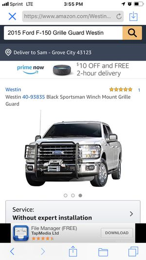 Ford F-150 brush guard winch holder for Sale in Grove City, OH