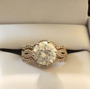14K rose gold 4 carat diamond wedding / engagement / promise diamond 💍 ring with wedding band for Sale in Chula Vista, CA