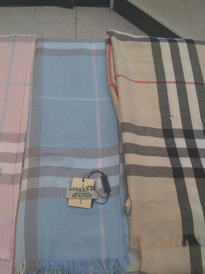 Burberry Scarves (Only Pale Blue and White Available) for Sale in Dallas, TX