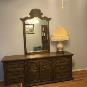 Great solid wood dresser and 2 night stands. for Sale in Fort Washington, MD
