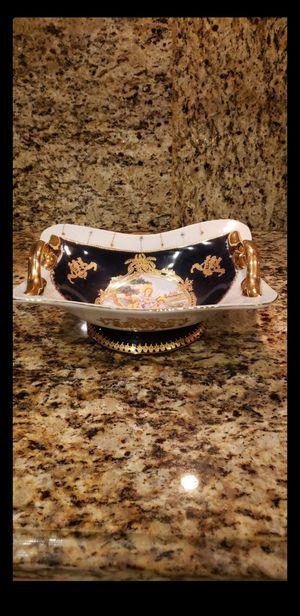 Vintage/Antique Limoges Large Fine China Decorative Dish/Bowl -22K Gold Trim for Sale in Plantation, FL