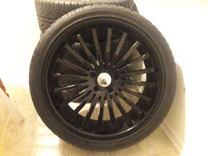 Rotiform 20 inch 5 lug wheel set (rims + tires) for Sale in Los Angeles, CA