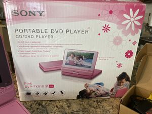 SONY Portable DVD/CD Player-PINK for Sale in Winter Springs, FL