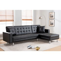 Brand New Leatherette Sofa Bed Click Clack for Sale in Monterey Park,  CA