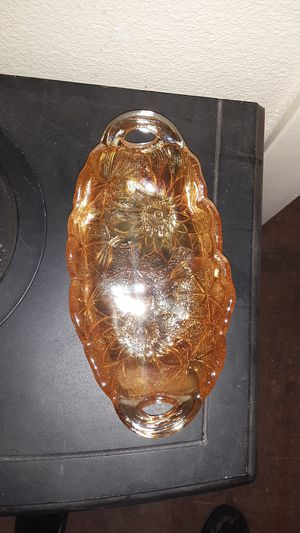 Amber Carnival Ware glass serving dish for Sale in Lakeside, AZ