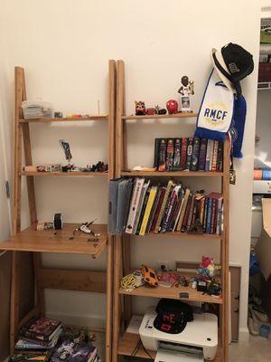 Bookshelves and desk shelf for Sale in Miami Beach, FL