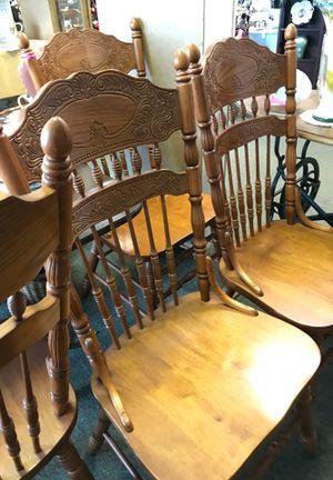4 oak chairs for Sale in Snellville, GA