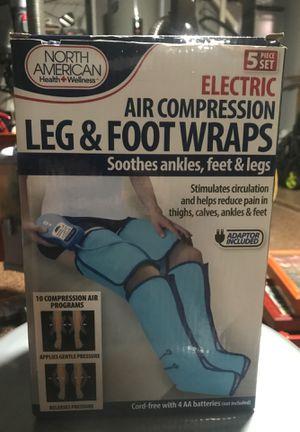 Electric air compression leg & foot wraps. for Sale in Phoenix, AZ