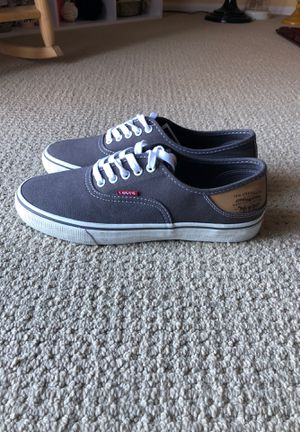 Men's Levi Canvas Sneakers (never worn) for Sale in Lawrence Township, NJ