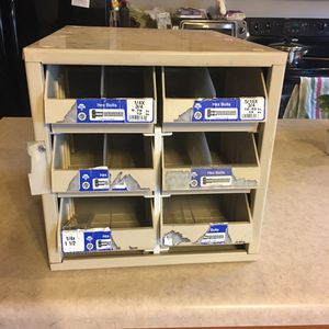 Metal Commercial storage shelves plastic drawers for Sale in Lyman, SC