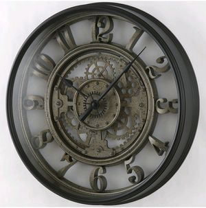 Gear Clock Industrial Age - Large Wall Clock for your Kitchen, Living Room, Bedroom, Office Space, etc... for Sale in Glendora, CA