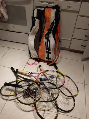 Professional tennis rackets with head bag for Sale in Miramar, FL