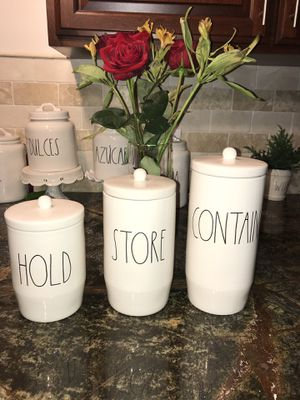 Rae Dunn Canister Set - 3 count for Sale in Sanger, CA