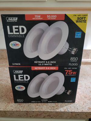 Brand New LED Lights in unopened boxes ( includes a bonus light that is opened box but not used) for Sale in Aurora, IL