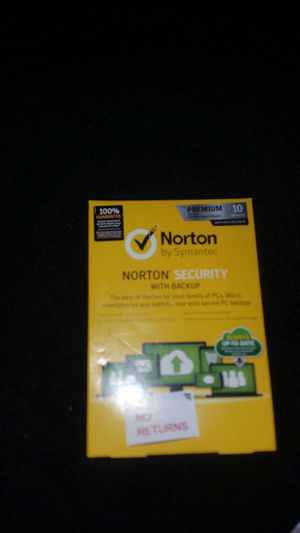 Norton (internet) Security Premium 2019 10 Devices W/backup & Family for Sale in Buffalo, NY