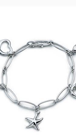 NEW Tiffany & Co. Silver Bracelet Cute Heart Start Bean for Sale in Seattle,  WA