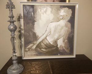 """Beautiful white and gold frame painting 32"""" by 32"""" for Sale in Clermont, FL"""