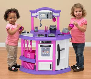 Kids Kitchen Playset Toys Play Set Baker Toy Girls Pink Purple for Sale in Marquette, MI