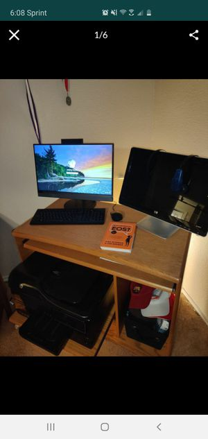 Nice Computer Bundle - printer desk chair touchscreen Lenovo HP Monitor for Sale in San Antonio, TX