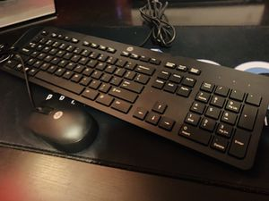 Like New HP Wired Keyboard and Mouse. for Sale in Porterville, CA