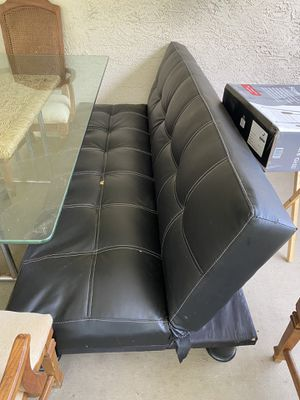 Futon Bed Leather ( full size bed ) for Sale in TWN N CNTRY, FL