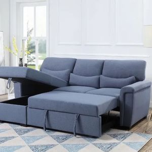 Amalfi Reversible storage Sleeper sectional Sofa $898.00 In Stock! Free Delivery 🚚 for Sale in Ontario, CA