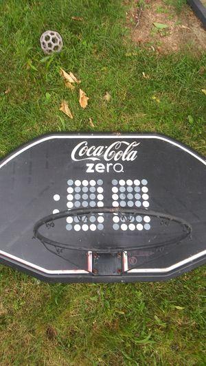 Basketball hoop Coca-Cola zero 43 inches long backboard Rim 19 in for Sale in Meriden, CT