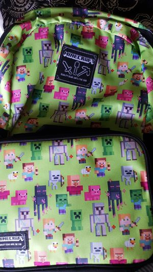 Minecraft back pack bright green for Sale in Alexandria, VA