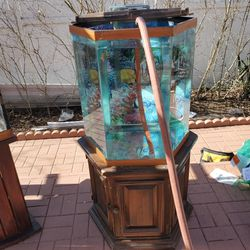 Hexagon Fish Tank With Stand, Top Cover And Filter for Sale in Levittown,  NY