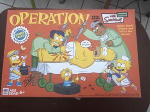 Simpsons Operation Board Game for Sale in San Bernardino, CA