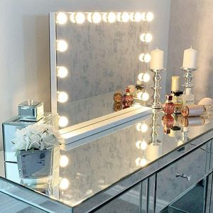 Brand New LED Vanity Makeup Mirror with Lights Hollywood Lighted 15 Bulbs Dressing Room Tabletop Bathroom Wall Mounted Magnification Spot Mirror for Sale in Queens, NY