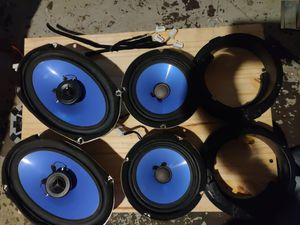 4x 50w car stereo speakers - with adapters. for Sale in Kansas City, KS