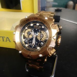 Invicta Reserve 52MM Gold Plated Swiss Quartz Movement #27794 for Sale in Morrisville, PA