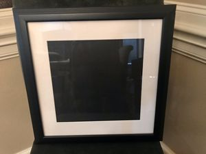 19x19 black picture frame for Sale in Cypress, TX