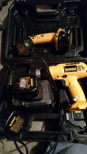 Dewalt 9.6 volt drill 12 volt flashlight for Sale in Saint Stephen, MN
