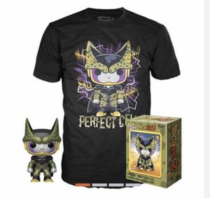 Perfect Cell Metallic Funko Pop Dragonball Z GameStop Exclusive Size XL Extra Large shirt box set for Sale in Carrollton, TX