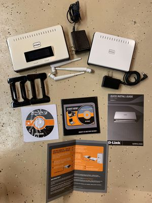 D-Link Router & Wireless Bridge for Sale in Quincy, IL