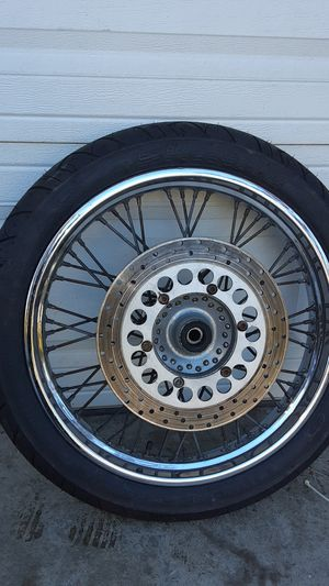 HARLEY DAVIDSON FRONT WHEEL W/ NEW TIRE for Sale in Danville, CA