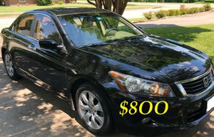 🔴📗URGENTLY 💲8OO FOR SALE 2OO9 Honda Accord Sedan EX-L V6 Clean title Runs and drives very smooth.📗🔴 for Sale in Dallas, TX