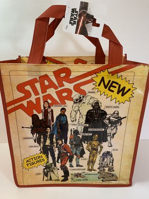 Star Wars Action Figures; Reusable Shopping Bag; Tote; Halloween Trick or Treat Eco for Sale in Miami, FL
