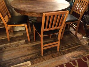 Three Stakmore Folding Wood Chairs for Sale in Salt Lake City, UT
