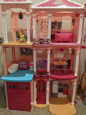 Barbie Dream House - Tall & Large Doll House & Will throw in camper with accessories too! for Sale in Sarasota, FL