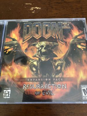 Doom 3: Resurrection of Evil Expansion Pack PC CD-ROM Game W/ CD Key & Cover for Sale in Phoenix, AZ
