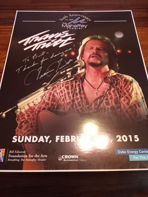 Travis Tritt Autographed Poster for Sale in Tampa, FL