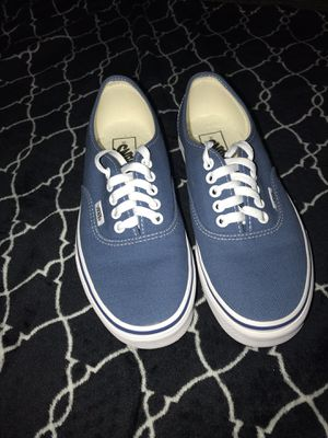 BRAND NEW, Authentic navy blue low-top vans. Women's size 8. for Sale in Everett, WA